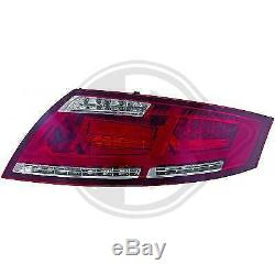 1040890 Pair Of Red Rear Lights For Audi Tt Coupe, 8j Type Convertible