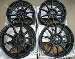 17 Black Alloy Wheels Neo Audi Coupé Cabriolet 90 100 80 Saab 900 9000 4x108