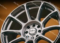 17 Silver Alloy Wheels Neo Audi Coupé Cabriolet 90 100 80 Saab 900 9000 4x108