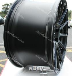 18 02 Black Alloy Wheels Wr For Audi A6 A8 Q5 Q7 5x112 C7 Tt Coupe Cabriolet