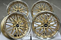 18 190 Gold Alloy Wheels For Audi A6 C7 A8 Q5 Q7 5x112 Coupe Tt Cabriolet Wr