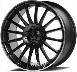 18 Black Alloy Wheels Ex23 For Audi A4 B5 B7 B8 B9 Saloon A5 Coupé Cabriolet