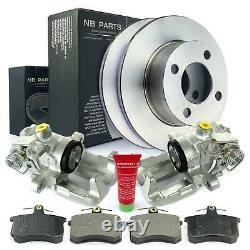 2x Caliper + Brake Discs + Blister Rear Audi 100 80 90 Cut Cabriolet