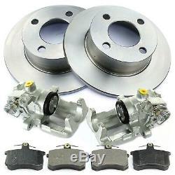 2x + Caliper Brake Discs + Rear Brake Audi 100 80 90 Coupe Cabriolet