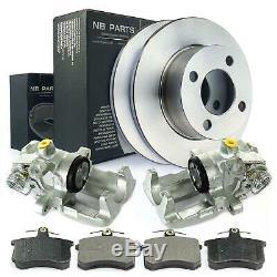 2x Caliper + Brake Discs + Rear Brake Pad Audi 100 80 90 Coupe Cabriolet