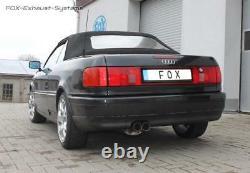 Ø63, 5mm Exhaust Sport Audi 80/90 89 B3 B4 Soda Coupé Cabriolet 2x76 Sharp