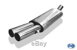 Audi 80/90 Type 89, B3 Soda / Coupe / 80 B4cabrio Silencer 2x76 MM From Fox
