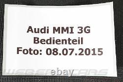 Audi A4 8k A5 8t Cut 8f Cabriolet Q5 8r MMI 3g Navi Radio Control Unit