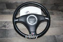 Audi Tt 8n Coupe Cabriolet S-line Sports Steering Wheel 8n0419091a Leather 8n0880201 Black
