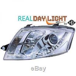 Audi Tt Coupé / Cabriolet Design Headlight Set Transparent Glass / Chrome