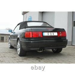 Fox Silencer 2x76 For Audi 80/90 89, B3 Soude / Coupé / 80 B4 Cabrio