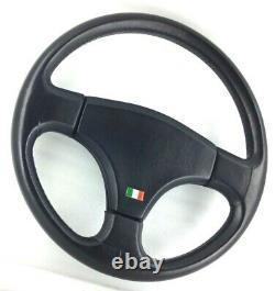 Genuine Personal (nardi) Model Giugiaro Leather Black Direction Rare Wheel! 8d