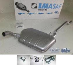 Imasaf Middle Pot Exhaust Audi 90 + Coupe + Convertible B3 / 89/80 1988-1994 +