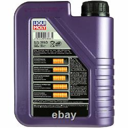 Inspection Kit Filter Liqui Oil Moly 6l 5w-40 For Audi Cabriolet 8g7 B4
