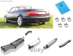 Kat Audi Complete System 80/90 89 B3 B4 Soda Coupe Cabriolet 2x76 Rond Fort