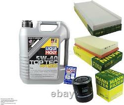 Liqui Moly 5 L 5w-40 Oil Inspection Kit Filter For Audi Cabriolet 8g7 B4