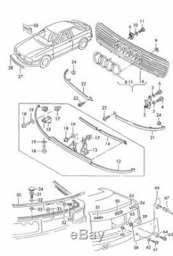Our Audi 80 / S2 B4 V6 Coupe Cabrio Typ89 Grill Middle Original Has 895,853,683 01c