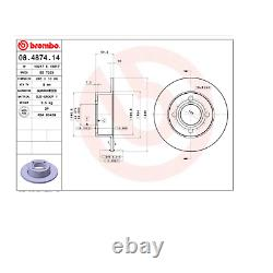 Pair Audi Coupe' Brembo Rear Brake Discs For 443615601