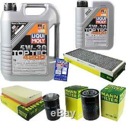 Revision On Oil Filters Liqui Moly 5w-6l 30 Audi Cabriolet 8g7
