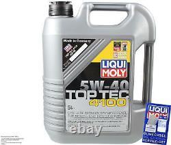 Sketch D'inspection Filter Oil Liqui Moly 7l 5w-40 For Audi Cabriolet 8g7 B4