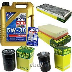 Sketch Of Inspection Liqui Moly 5 L 5w-30 For Audi Cabriolet 8g7
