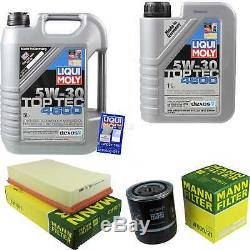 Sketch On Inspection Filter Liqui Moly Oil 5w-30 6l From Audi Cabriolet 8g7
