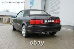 Sport + Vb-rohr Audi 80/90 89 B3 B4 Soude Coupé Cabriolet 1.6-2l Plat Oval