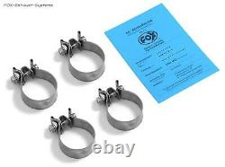 Stainless Factory Audi 80/90 89 B3 Soda / Coupe - B4 Convertible 2.0 16v 2.3l 2x63mm