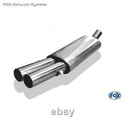Stainless Installation Complete Audi 80/90 89 B3 Soda / Coupe - B4 Convertible 2x63mm