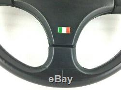 True Personal (nardi) Model Giugiaro Black Leather Steering Wheel Rare! 8d