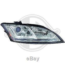 1041285, Paire de Feux Phares Design chrome pour AUDI TT Coupe, Cabriolet 8J