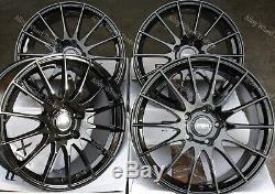 17 Noir FX004 Roues Alliage Audi 90 100 80 Coupé Cabriolet Saab 900 9000 4x108