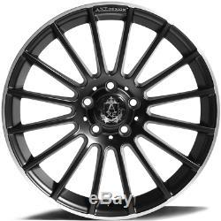 18 Noir EX23 Roues Alliage Pour Audi A4 B5 B7 B8 B9 Saloon A5 Coupé Cabriolet
