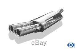 AUDI 80/90 type 89, B3 Soude / Coupé / 80 B4 CABRIOLET Silencieux 2x76mm von