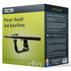 Attelage pour Audi A4 berline type 8E/B7 démontable sans outil Oris TOP