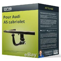 Attelage pour Audi A5 cabriolet type 8F démontable sans outil Oris VOITURE NEUF