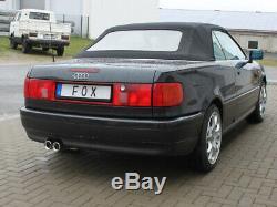 Audi 80/90 Type 89, B3 Soude / Coupé / 80 B4 Cabriolet Silencieux 2x76mm De Fox