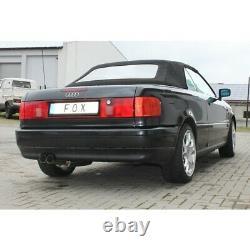 Audi 80/90 Type 89, B3 Soude / Coupé / 80 B4Cabrio Silencieux 2x76 MM De Fox