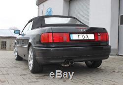 Audi 80/90 Type 89 Berline Cabriolet Coupé Fox Silencieux Sport 63,5mm 2x76mm