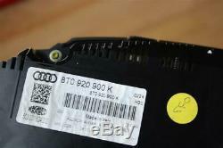 Audi A5 8t Coupé Cabriolet Essence Tableau de Bord Intégré Achymètre Tachymètre