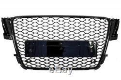 Calandre sans Emblème Noir Brillant Audi A5 8T Sportback/Coupe/Cabrio RS5 Look