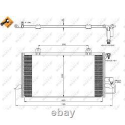Condensateur Climatisation NRF pour Audi 80 8C B4 Cabriolet 8G7