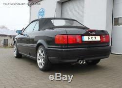 Échappement Sport Audi 80/90 89 B3 B4 Soude Coupé Cabriolet 2x76mm Rond