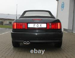 Fox Silencieux 2x76 pour Audi 80/90 89, B3 Soude / Coupé / 80 B4 Cabriolet