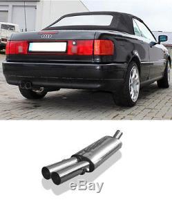 Fox Sportauspuff (pour Or. Silencieux Central)Audi 80 B4 Cabriolet 2.0l 2.6