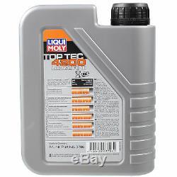 Liqui Moly 6L Toptec 4200 5W-30 Huile + Filtre pour Audi Cabriolet 8G7 B4 80