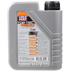 Liqui Moly 6L Toptec 4200 5W-30 Huile + Filtre pour Audi Cabriolet 8G7 B4 Coupé