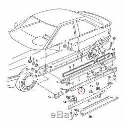 Nouveau Audi Cabriolet 92-00 Coupé 89-96 Droit O/S PORTE Bas Bande D' Usure