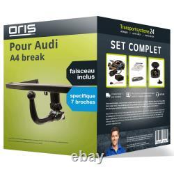 Pack Attelage Oris pour Audi A4 break 04- Amovible et Faisceau s. 7 broches TOP