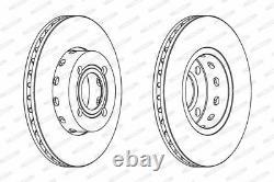 Paire disques de frein avant Ferodo DDF471 pour Audi 80, Cabriolet, Coupè